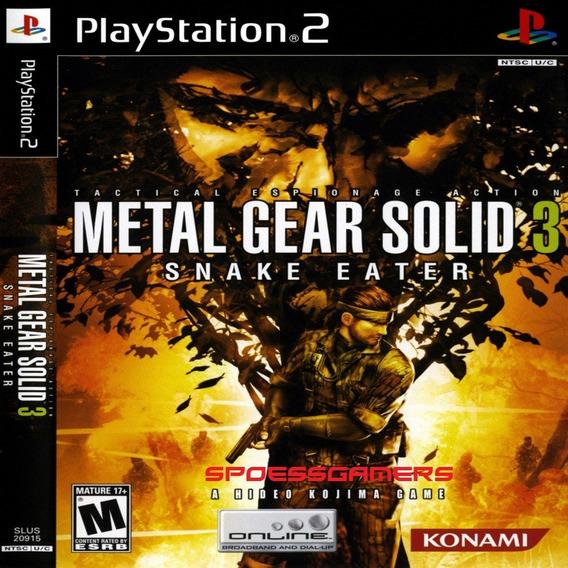 Metal Gear Solid 3 Snake Eater Ps2 Desbloqueado Patch