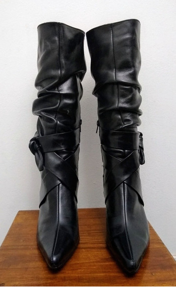 Botas Largas De Cuero Mary Joe