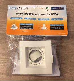 Embutido Mr11 Quadrado Recuado Mini Dicroica Save Energy