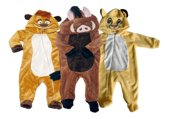 Kit 3 Mamelucos Disney Timon, Pumba, Simba A Precio De 2