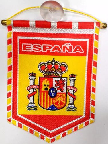 Flâmula Bandeira Da Espanha 13x10cm C Ventosa Lindo Souvenir
