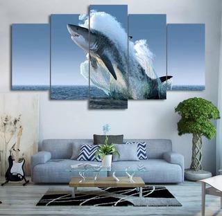Quadro Decorativo Tubarao Branco White Shark Sala Promoção