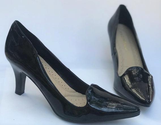 Sapato Feminino Scarpin Social Salto Baixo Facinelli 62705