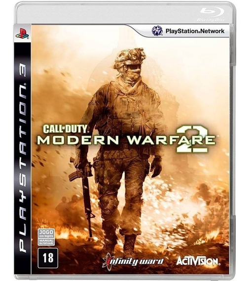 Jogo Midia Fisica Call Of Duty Modern Warfare 2 Mw2 Para Ps3