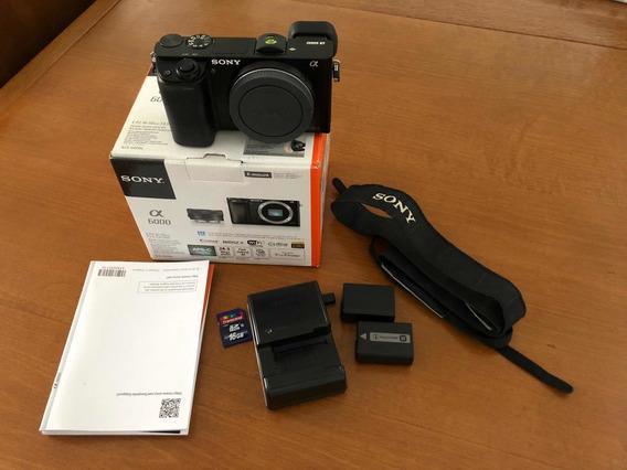 Corpo Câmera Sony A6000 (sem Lentes) + 2 Baterias + Cartão