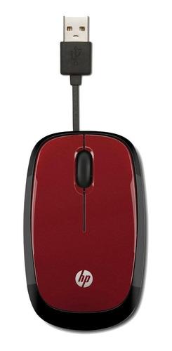 Imagen 1 de 1 de Mouse mini HP  X1250 rojo