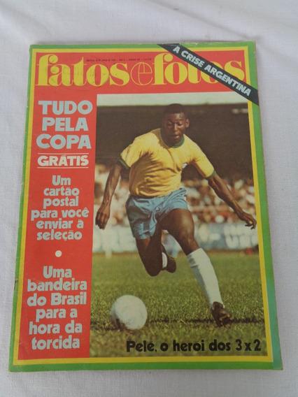 Revista Fatos E Fotos Pelé O Heroi Dos 3x2 Copa Nº490 1970