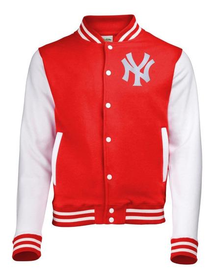 Casaco Blusa College Jaqueta Baseball New York Ny Bordado