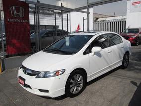 Honda Civic Ex Aut Blanco
