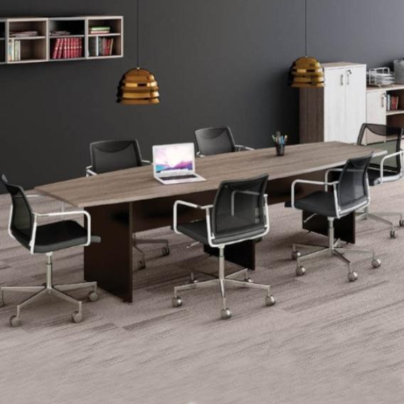 Sala De Reunião Completa - Mesa Luxo + 6 Cadeiras - Oferta