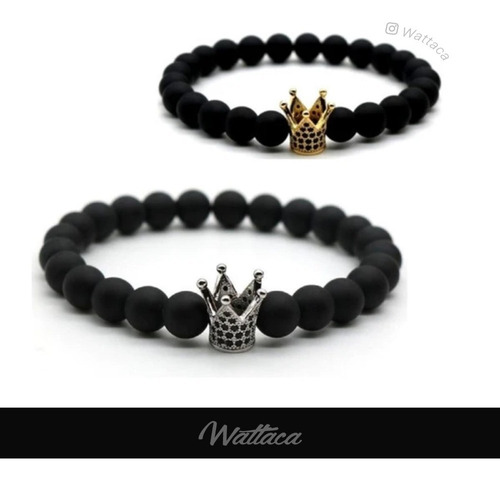 Pulseras Para Parejas King And Queen Black Golden   Wattaca