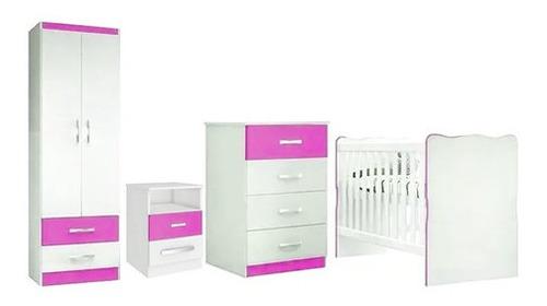 Juego Dormitorio Infantil Celeste Ropero Cuna Cómoda Bebe
