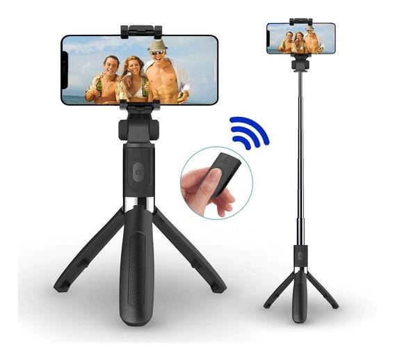 Pau De Selfie E Tripé Bluetooth Sem Fio Fotos Videos Férias