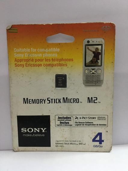 Memory Stick Micro M2 4gb Sony
