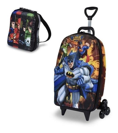 Kit Mochilete + Lancheira Liga Batman, Max Toy 3d