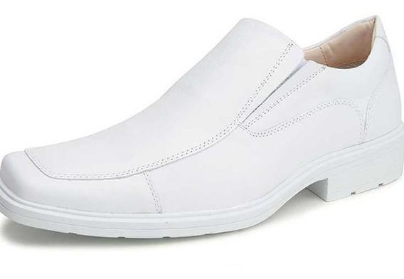 Sapato Branco Couro