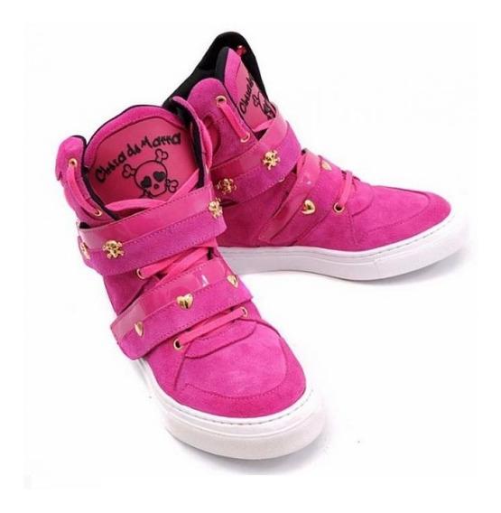 Tênis Bota Treino Sneaker Feminino Fitness Academia Pink