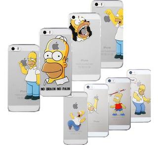 Funda Homero Simpson iPhone 5 5s Se 6 6s 7 8 Plus X