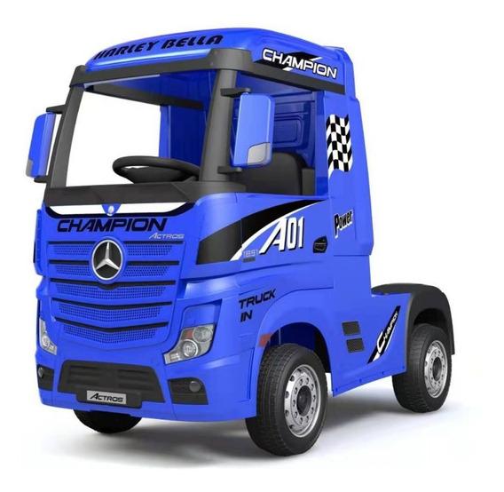 Mercedes Benz Camión Azul A Batería Hl358 Full