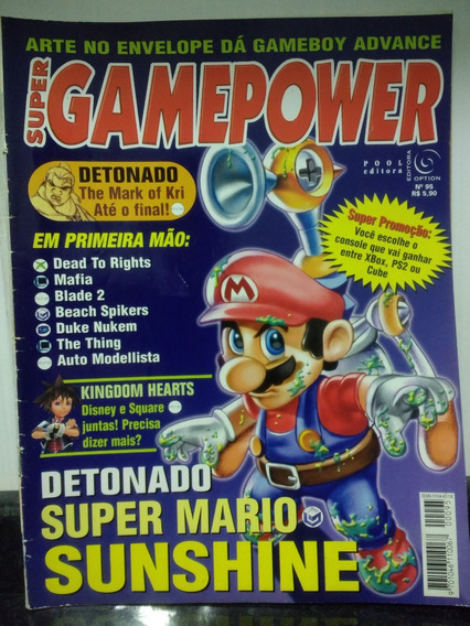 Revista Supergamepower 95 Super Mario Sunshine Detonado Rjhm