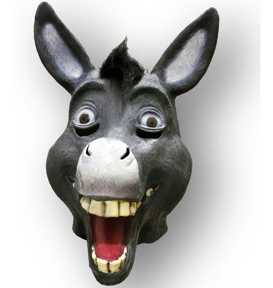 Mascara Latex Burro De Shrek Disfraces Hombre Halloween Niño