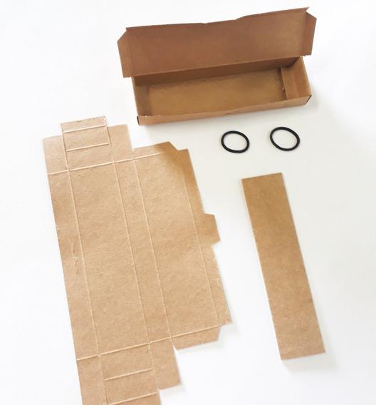 50 Caixas P/ Caneta Embalagem Presente Estojo Em Kraft Luxo