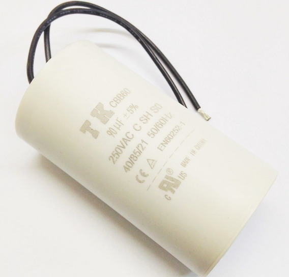Capacitor Permanente 90uf 250vca Fios