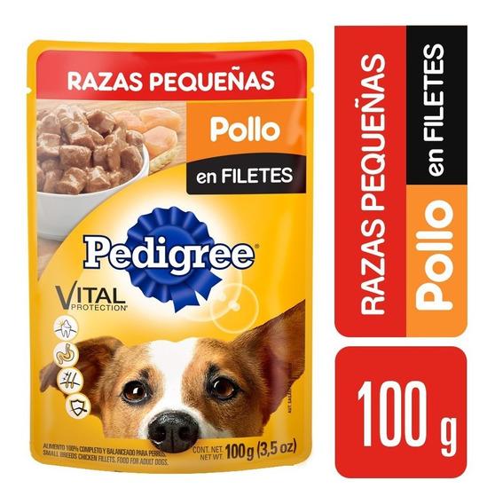 Alimento Para Perro Pedigree Razas Peq. Pollo 10 Paq. 100 Gr