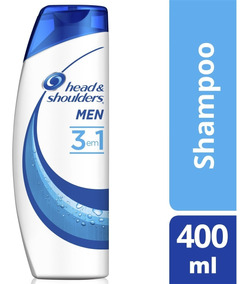 Shampoo Head & Shoulders Anticaspa 3 Em 1 Masculino 400ml
