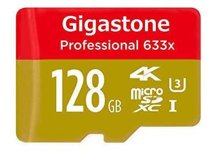 Cartão De Memória 128gb Microsd Gigastone + Adaptador Sd