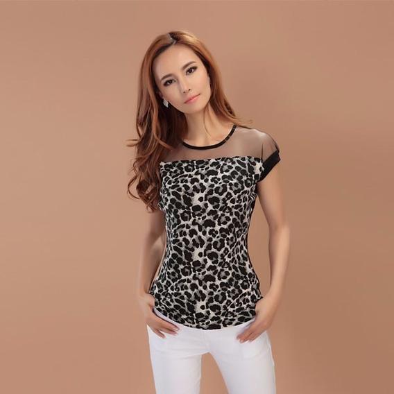 Blusa Dama Leopardo Talla S