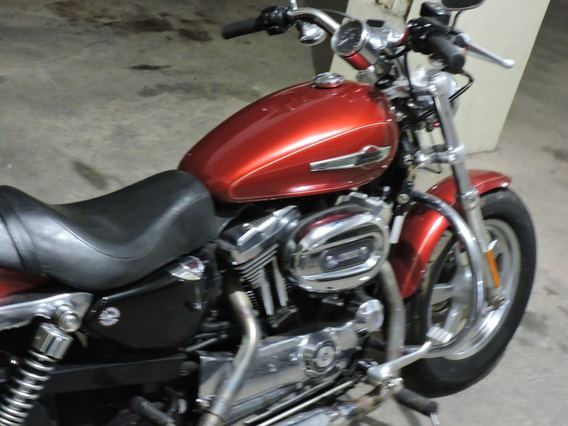 Harley Davidson Xl 1200c Custon Sportester-- Orange Red