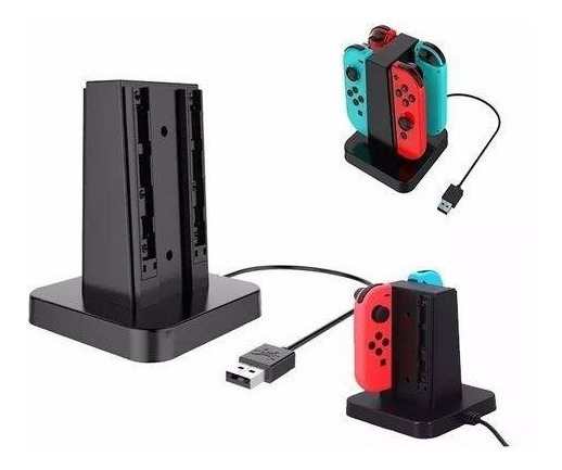 Nintendo Switch Joy-con Charging Dock Estação Carregamento Carregue 4 Controladores Joy-con Ao Mesmo Tempo