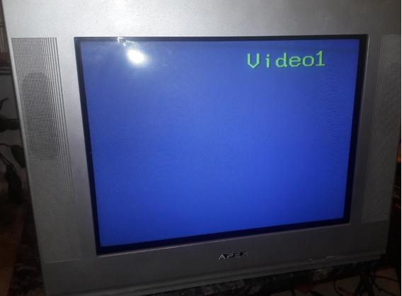 Tv Convencional Slim Apex Mod. Pf2025 Usado 100% Operativo.