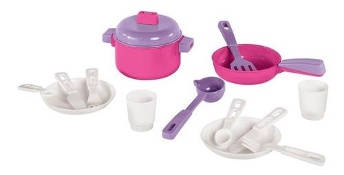 Juego De Ollas Sarten Cubiertos Juguete Cocina Infantil 305