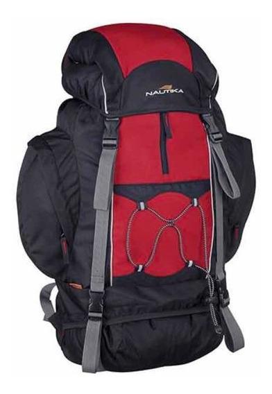 Mochila Náutica Montanhês 70l + 10 Vermelha/preta. Mochilão