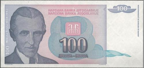Imagen 1 de 2 de Yugoeslavia 100 Dinara 1994 P139a
