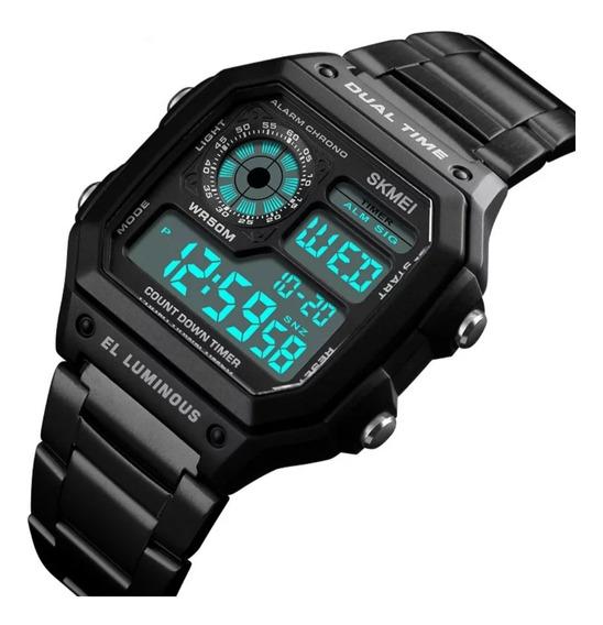Relógio Masculino Esportivo Militar Digital Skmei Modelo 1335 Original Frete Grátis