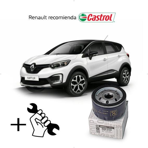 Service Cambio Aceite Y Filtros Captur Motor F4r - 2.0 Cc 16