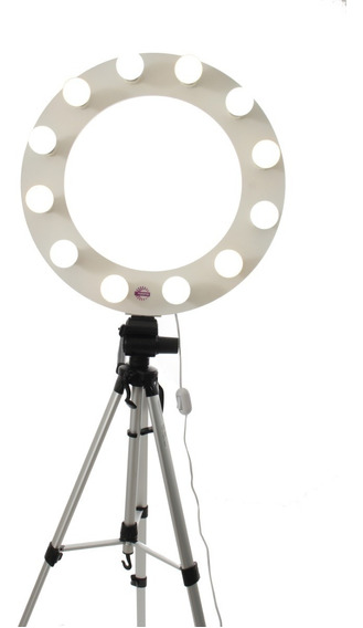 Ring Light Br C/ 12 Led, Tripé 1,80 Kit Selfie Ring Celular