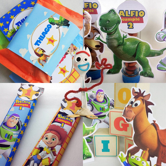 Kit Grafica Impresa Toy Story Candy Bar Mesa Dulce 30 Chicos