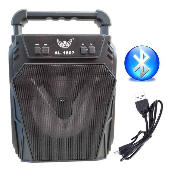 Caixa Caixinha De Som Portátil Bluetooth Mp3 Rádio Al-1807