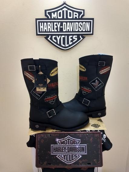 Bota Harley Davidson Original Fashion Rara Tamanho Usa 11 43