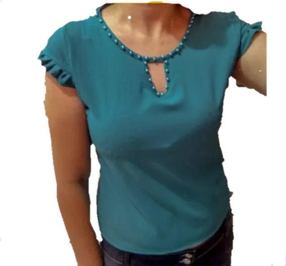 Blusa Camisa Social Com Laço, Perola Ou Renda