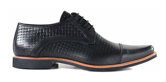 Zapato Cuero Briganti Hombre Cordon Vestir - Hcac00975 Ev