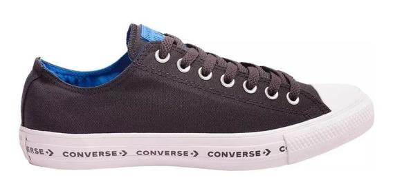 Converse Zapatillas Lifestyle Hombre Ctas Ox Negro - Celeste