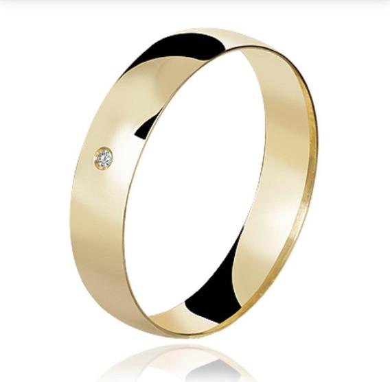 Aliança De Ouro Diamond 18k 750