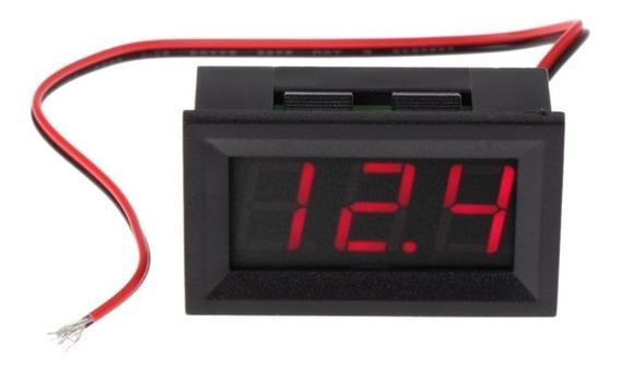 Voltímetro Digital 12v Para Som Automotivo Ler Bateria Carro