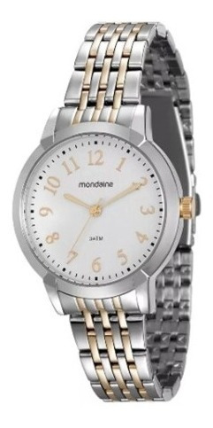 Relógio Mondaine Com Caixa E Pulseira Em Metal