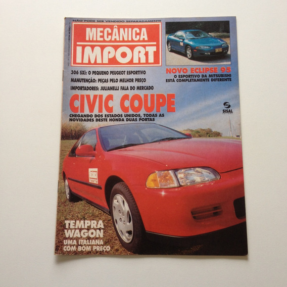 Revista Mecânica Import 3 Civic Coupe Tempra Wagon A019